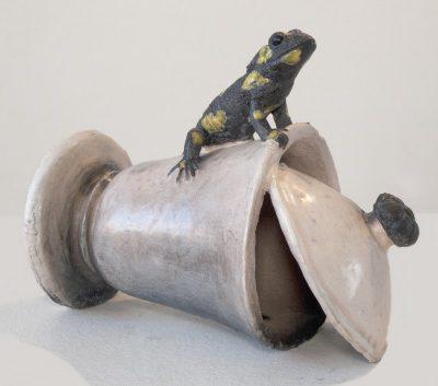 salamander op suikerpot-w